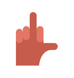 hand aggression symbol middle finger up vector image