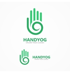 hand with a spiral logo vector image