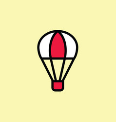 hot air balloon icon thin line on color background vector image vector image
