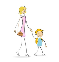mother and son vector image vector image