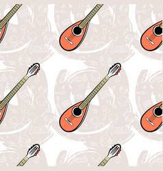 pattern seamless guitar-04 vector image