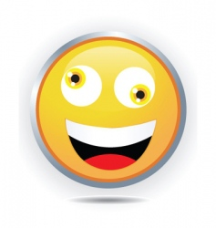 silly face vector image vector image