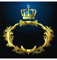 vignette and crown vector image vector image