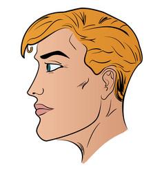 a man cartoon head profile pattern vector image vector image