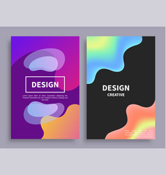 banners collection with blots vector image