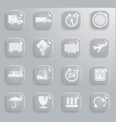 cargo shipping symbols vector image