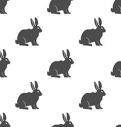 Hare or Rabbit silhouette seamless pattern vector image vector image