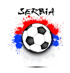 soccer ball and serbia flag vector image