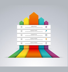 up arrows infographic options banner vector image