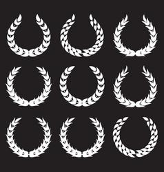 white laurel wreaths 1 vector image vector image