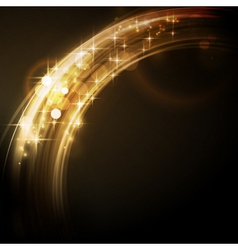 Abstract circular light border with stars vector image vector image