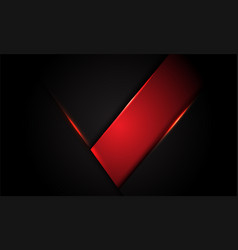 abstract red label metallic on dark grey triangle vector image