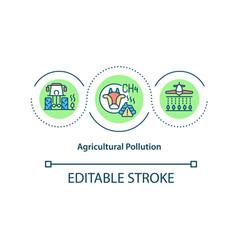 Agricultural pollution concept icon vector
