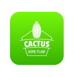 art cactus icon green vector image
