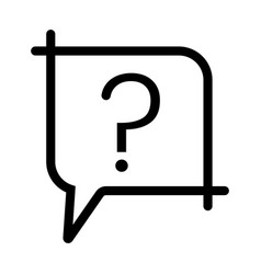Ask a question or make a request line art icon vector