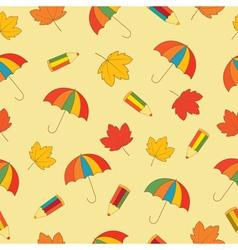 Autumn school seamless pattern vector