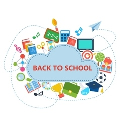 back to school supplies white vector image