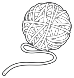 Ball of yarn outline vector