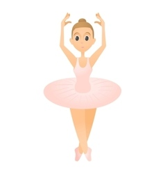 Ballerina standing on toes icon flat style vector