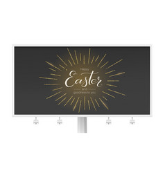 billboard for festive happy easter greeting vector image