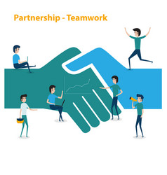 business people teamwork cooperation vector image