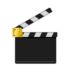cinema clapper isolated on white background vector image