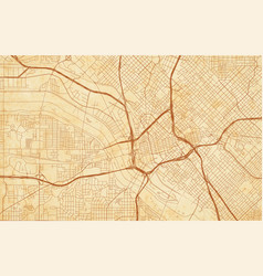 City map dallas on a vintage grunge paper vector