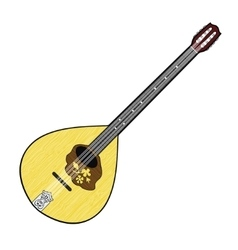Colorful of Irish Bouzouki vector