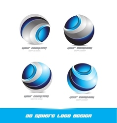 Corporate business 3d sphere logo icon set vector