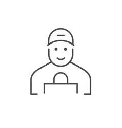 Courier line icon or shipping concept vector