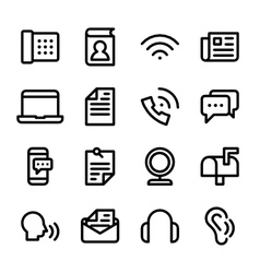 crisp communication icons vector image