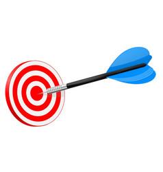dart in red dartboard vector image