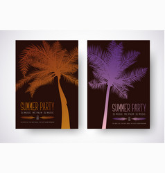 Design a flyer for a summer party poster template vector