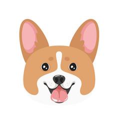 Dog pet head icon vector
