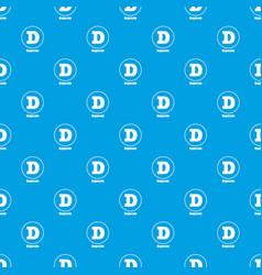 Dogecoin pattern seamless blue vector
