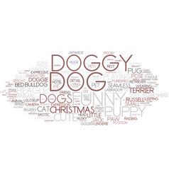 Doggy word cloud concept vector