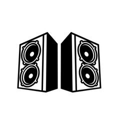 Double speaker boom back to back symbol vector