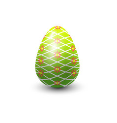 Easter egg painted with spring pattern vector
