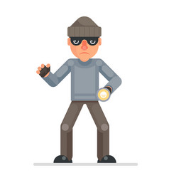 Flashlight grabbing hand evil greedily thief vector