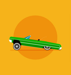 Flat lowrider car icon vector