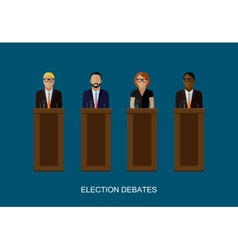 Flat of a speakers politicians vector