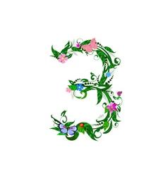 flower number of butterflies vector image