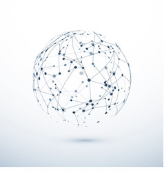 global network icon abstract structure of vector image