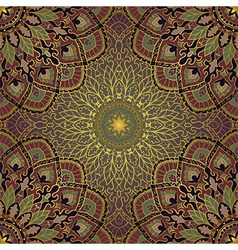 Gold pattern of mandalas vector
