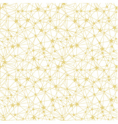 Golden yellow stars network seamless pattern vector