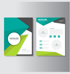Green Black brochure flyer leaflet layout template vector