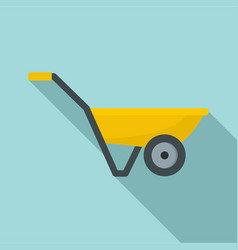 hand truck with one wheel icon flat style vector image