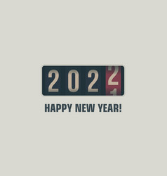 happy new year 2022 numbers on analog counter vector image