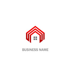 home roline business logo vector image