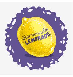 Homemade lemonade design with a lemon vector
